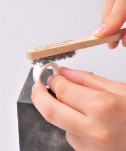 Brushing on Rubber Block