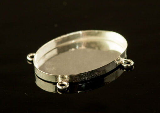 Bezel Cup Silver (sv925) Oval with 4 rings (A694777)