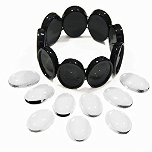 Bracelet Black Ovals Photo Jewelry