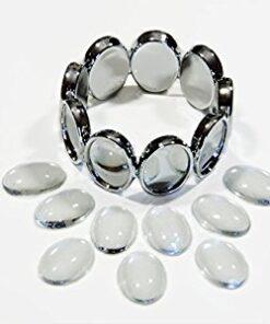 Bracelet Silver Ovals Photo Jewelry