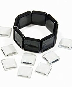 Bracelet Black Square Photo Jewelry