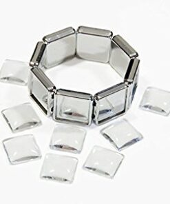 Bracelet Silver Square Photo Jewelry