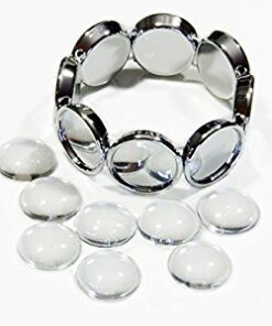 Bracelet Silver Circles Photo Jewelry