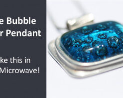 Kraftfun Project - Blue Bubble Silver Pendant