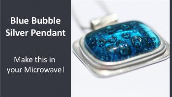 Kraftfun Project - Blue Bubble Silver Pendant
