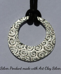 Silver Circle Pendant made in the microwave