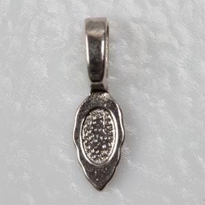 Bails Tibetan shape, medium, silver colour (S0100) - Bails