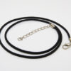 "Rubber (PVC) Necklace - Black Cord - 17"" + ext (S0721)"