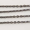 Chain, Vintage Style, Gunmetal, 60cm (S0124) - Chains & Necklaces