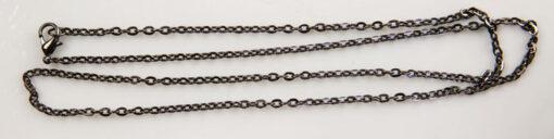 Chain, Vintage Style, Gunmetal, 60cm (S0124) - Chains & Necklaces