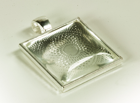 Square Bezel with Glass Tile