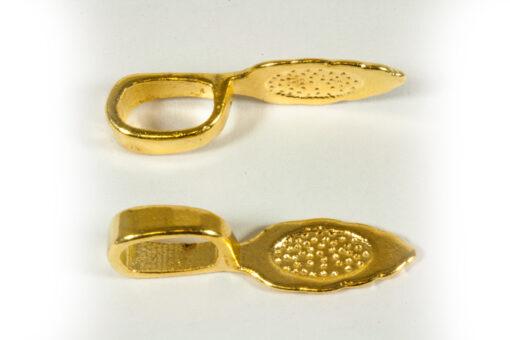 Bails Tibetan shape, medium, gold colour (S0357) - Bails