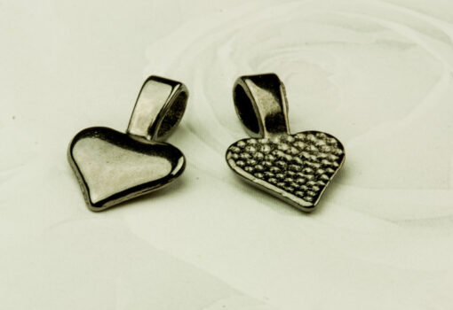 Bail - Heart Gunmetal 10x16mm Small (S0572) (10pk)