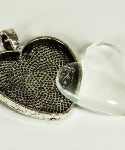 Heart Bezel with Glass Tile