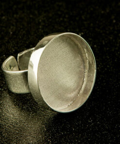 Bezel (Ring) Silver Plated - Round